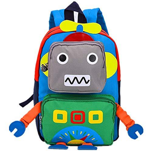 Zaino per Bambini Zaino per Bambini Zaino per Scuola Materna Cartone Animato per Bambini Baby (Robot Verde)