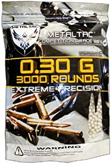 MetalTac 0.3g BB Airsoft 6mm BBS Perfect Grade Pellet 6mm .30g for Airsoft Guns Ammo