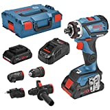 Bosch Professional 06019G7106 GSR 18V-60 FC Perceuse-visseuse sans Fil 18 V 4 Ah Li-ION + 2 Batteries, Mallette, Bleu