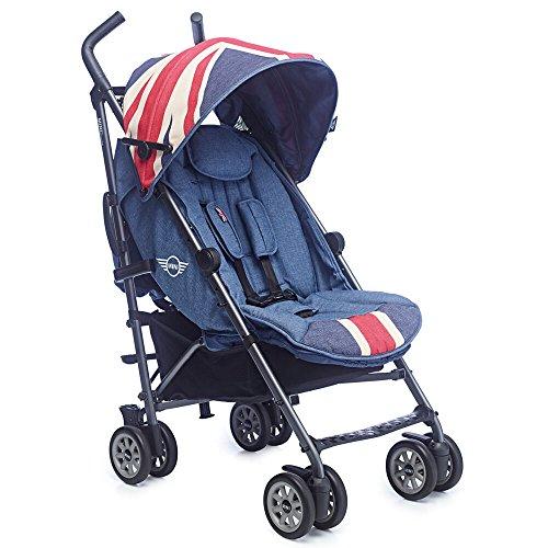 Easywalker - Silla de paseo mini buggy union jack vintage denim azul ✅