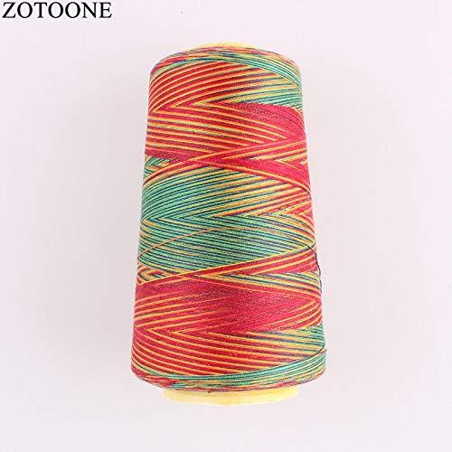Borduurgaren Kleurrijke Naaimachine Draad Set nylon draad borduurgaren Spool applicaties op kleding ZHQHYQHHX (Color : SE0002, Size : 1)