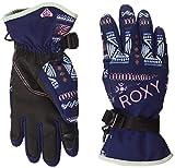 Roxy Jetty-Guantes para Snowboard/Esquí para Chicas 8-16, Niñas, Medieval Blue Impala Stripes, S