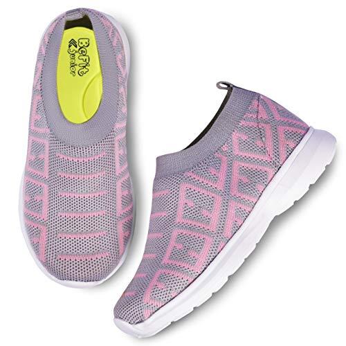 BeFit Unisex-Child's Grey & Baby Pink Shoes - 9 UK