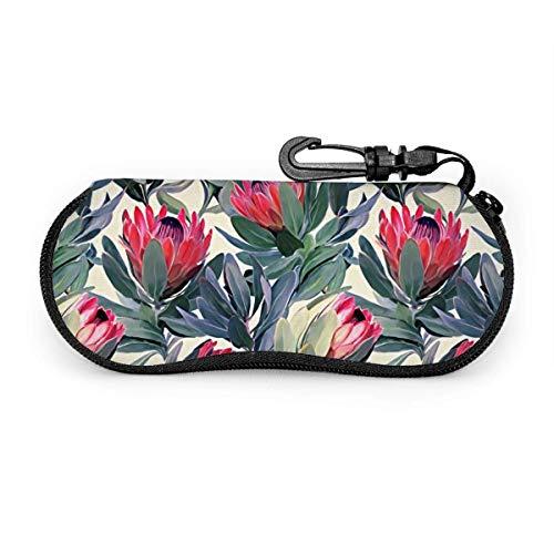 sherry-shop Étui à lunettes de soleil Protea Travel Soft Neoprene Zipper Eyeglass Bag