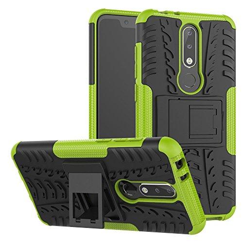 Nokia 5.1 Plus Custodia Cover Case, FoneExpert® Resistente alle Cadute Armatura dell'impatto Robusta Custodia Kickstand Shockproof Protective Case Cover per Nokia 5.1 Plus 2018 / Nokia X5