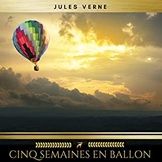 Cinq semaines en ballon audiobook cover art