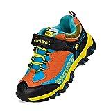 Feetmat Boys Shoes Outdoor Waterproof Hiking Shoes Kids Sneakers Black Orange 1 Little Kid