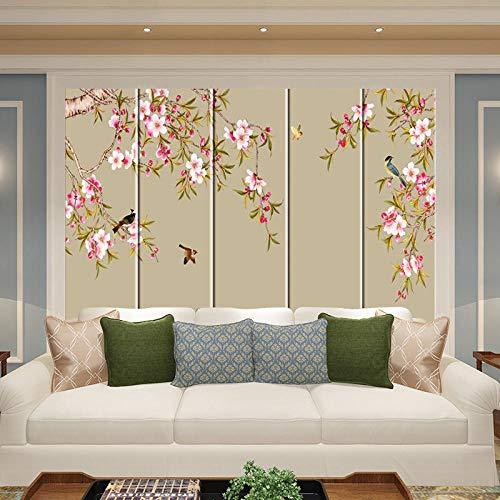 Herramientas de impresión personalizadas nueva bolsa dura china pintura de tinta de flores y pájaros sala de estar sofá dormitorio mesita de noche bolsa dura bolsa suave pared de fondo 200*140cm