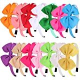XIMA Bows Headbands with Teeth for Girls,Kids Hairbands,Grosgrain Hair Bows Accessories for Baby,Pack of 14