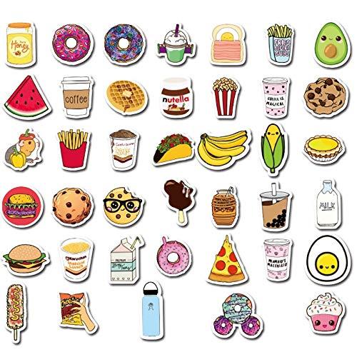 BLOUR Neue 40pcs Kawaii Delicious Food Papier Aufkleber Dekoration Rucksack Notebook Laptop Auto Scrapbooking Telefon Aufkleber Spielzeug für Kinder