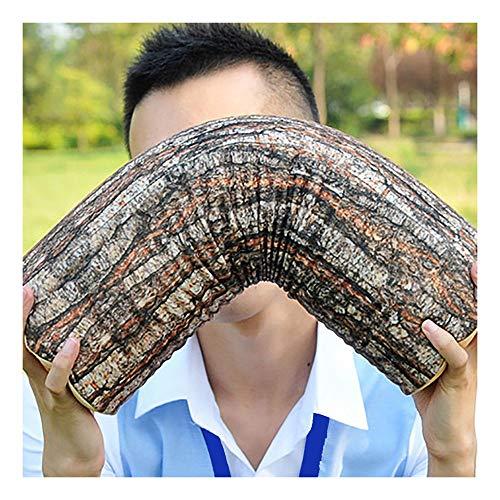 Almohada de forma extraña, aceite cambio, cojín diario de simulación creativa, textura, cojín de pila de madera cilíndrica, cojín de simulación de diario, cojín redondo de madera, cojín 43 cm × 13 cm