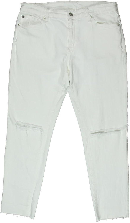 Denim & Supply Ralph Lauren Womens Carmen Destroyed Raw Hem Cropped Jeans