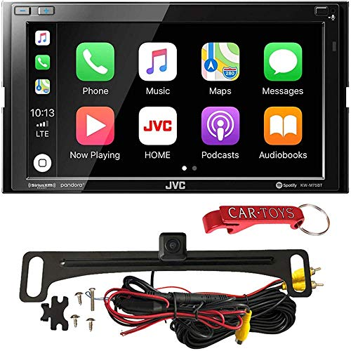 "JVC KW-M75BT 6.8"" Multimedia Receiver Safe Driver's Bundle with Voxx HD Backup Camera. Double-DIN Stereo with Apple CarPlay, Android Auto, Bluetooth, SiriusXM Ready, Maestro Ready, High Res, KWM75BT"