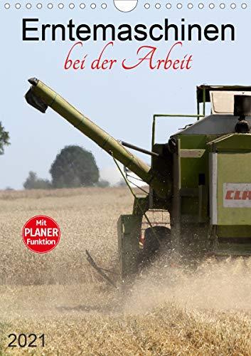 Erntemaschinen bei der Arbeit (Wandkalender 2021 DIN A4 hoch)
