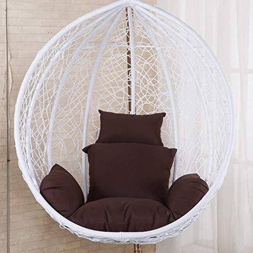 Cojines colgantes para silla de huevo, asiento de columpio, cojín para silla de nido de pájaros, asiento acolchado antideslizante doble, sin asiento, color: T (color: K)