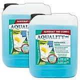 AQUALITY Gartenteich Fadenalgen-EX Flüssig (GRATIS Lieferung in DE - Flüssiger Fadenalgenvernichter, Algenmittel, Algenentferner. Löst Sich schnell im Teich auf), Inhalt:10 Liter