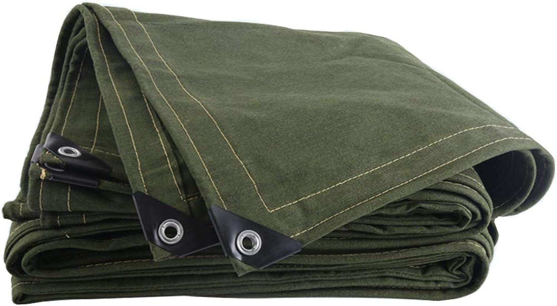 Gewebeplane Schatten Regenfest Verschleifest Plus dick draussen Segeltuch Baumwolle Plane, Grün Umweltschutz (gre   5  6cm)