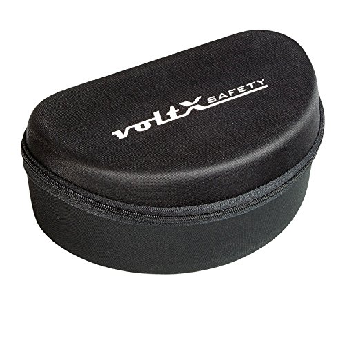 voltX Grote Case voor Veiligheidsbril - Gevlokt Gevoerde Binnenkant met Laadnet in Mesh