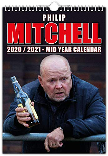 Phil Mitchell – Calendario de pared de mitad de año // 2020 (julio) – 2021 (junio) – Divertido/Quirky – idea de regalo o regalo