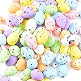 100 Pcs Huevos Colores de Pascua Adorno Decorativo Huevos de Espuma Pequeños para Decoración de Fiesta de Pascua