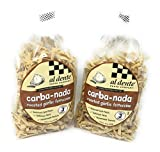 Reduced Carb Pasta - 170 Calories per serving. 5 Serving per bag Al Dente Pasta Garlic Flavor. Carba Nada Pasta Garlic Flavor Kosher, high in fiber 7g per serving 25% daily of dietary fiber Simple Cooking directions: cooks in 3 minutes Enjoy in good ...