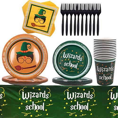 Juego de Vajilla para Fiestas - YUESEN Harry Potter Suministros de Fiesta Harry Potter Platos Servilletas Papel Vasos de Vajilla para Niñas Niños Cumpleaños Baby Shower Boda (69pcs)