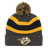 47 Brand Nashville Predators NHL Charcoal Breakaway Cuff Knit Beany Hat One Size Mütze Forty Seven