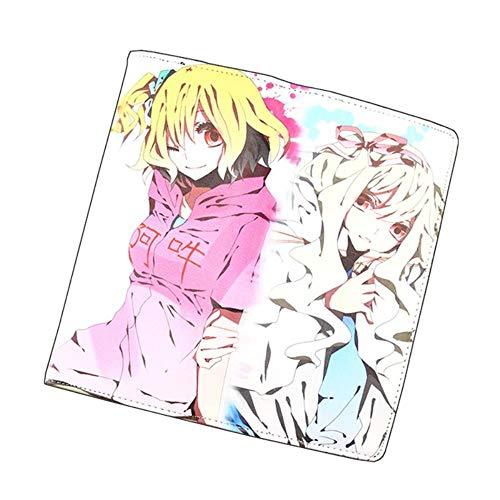 Japón Anime Cartera de dibujos animados Kagerou Project Kisaragi Momo Long PU Carteras de cuero Tarjetas Titular Monedero