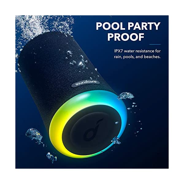 Mini Bluetooth Speaker, Outdoor Bluetooth Speaker, IPX7 Waterproof for Outdoor Parties, LED Show with 360° Sound and BassUp technology 6