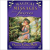 「Magical Messages from Fairies Oracle」タロットカード、家族パーティーソリティアゲーム占い運命デッキゲームテーブルパーティーパズルボードゲーム、44カード、英語版