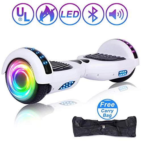 """SISIGAD Hoverboard 6.5"""" Self Balancing Scooter with Colorful LED Wheels Lights Two-Wheels self Balancing Hoverboard Dual Motors Hover Board UL2272 Certified"""
