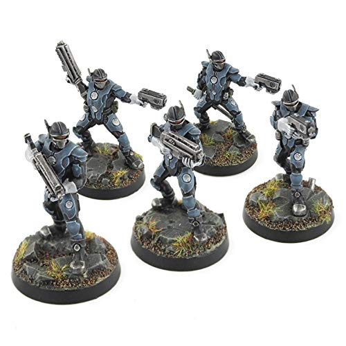War World Gaming Futuristic Law Enforcement Officers Full Set – 28mm Heroic Scale Sci-Fi Wargame Miniatures Figures Model Painting Minis Police Enforcer Wargaming