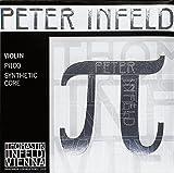 Thomastik Cuerda para violín 4/4 Peter Infeld - cuerda Re núcleo sintético, entorchado plata, medio