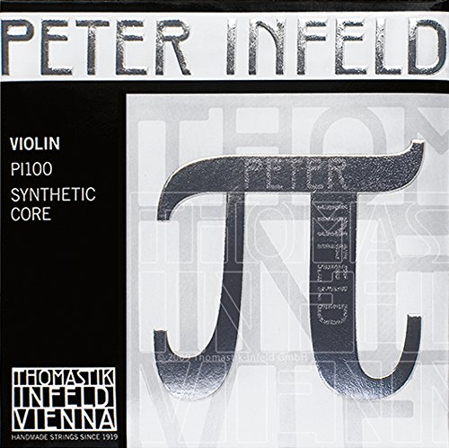 Thomastik Cuerdas para violín Synthetic Core Peter Infeld juego 4/4 Mi en platino