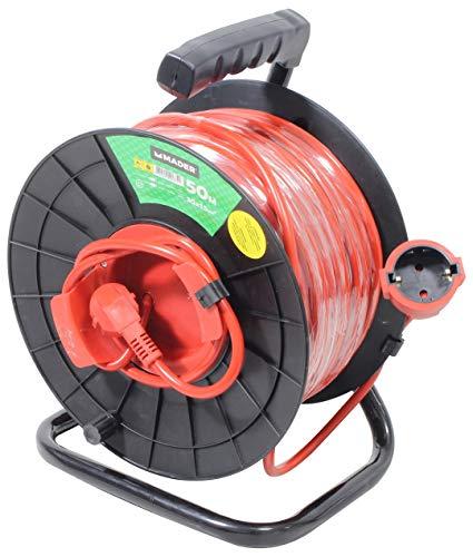 Mader Garden Tools 90675 Prolongador Cordón Eléctrico Exterior Enrollacable 50mx1.5mm2-90675