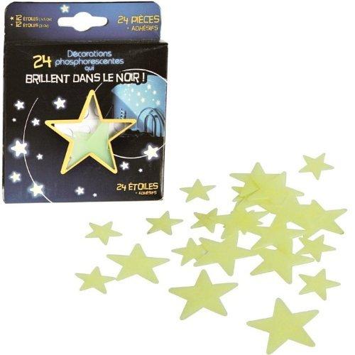 Equilibre et Aventure Coffret de 24 étoiles phosphorescentes pour décorer Une Chambre d 'Enfant.