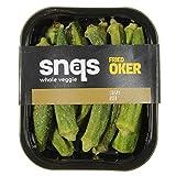 Snaqs 90291 Bundle misto di snack a base di verdure - patatine di gombo, fette di cipolla arrostita, broccoli fritti, cavolfiore fritto, patatine di shiitake - confezioni 2 per gusto