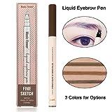 Eyebrow Pen-Waterproof Microblading Eyebrow Pen Smudge-Proof Liquid Tattoo Pen-Four Tips Long-lasting Chestnut Eyebrow Pen for Eyes Makeup (01# Chestnut)