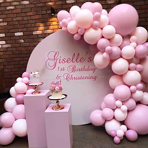 Princess Pink Balloon Arch Garland Kiti
