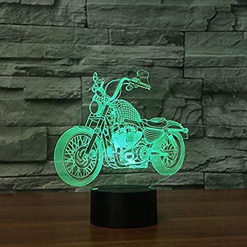 3D Ilusión óptica Lámpara LED Deco LED Lámpara Speed Furious Moto Decoración Del Hogar Regalo De Cumpleaños Para Niños Habitación De Niños Con interfaz USB, cambio de color colorido
