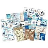 Kit scrapbooking - Sea Time (tarjetas en ESPAÑOL)