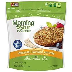 Kellogg's Morningstar Farms Original Sausage Patties - Clean Eating Veggie Meals, Vegetarian, Kosher