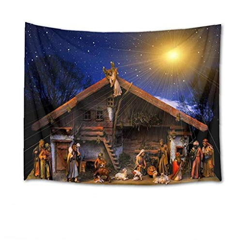 Zonfer Tapiz para colgar en la pared, diseño de cielo estrellado de Jesús Belén de la pared, arte de pared para dormitorio y sala de estar