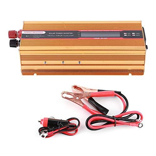 EBTOOLS Wechselrichter für Auto, 6000W LCD-Stromrichter Modifizierte Sinus-Universalsteckdose USB-Schnittstelle DC 12V zu AC Wechselrichter Gold(AC220V)