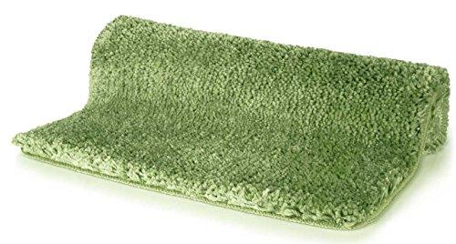 Spirella badmat badmat douchemat microvezel hoogpolig | pluizig | antislip | geschikt voor vloerverwarming | 55x65 cm | olijfgroen