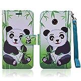 for ZTE N818S QLink Wireless Case Wallet Grip Kickstand Pouch Pocket Purse Screen Flip Cover for ZTE Sapphire 3g (Panda)