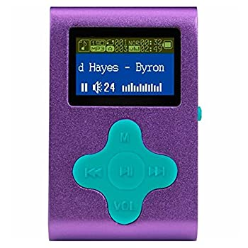 Eclipse Fit Clip 4GB MP3 Player - Purple/Teal