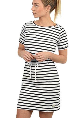BlendShe ENA Damen Sweatkleid Sommerkleid Kleid Mit Rundhals Aus 100% Baumwolle, Größe:L, Farbe:Black (20100)