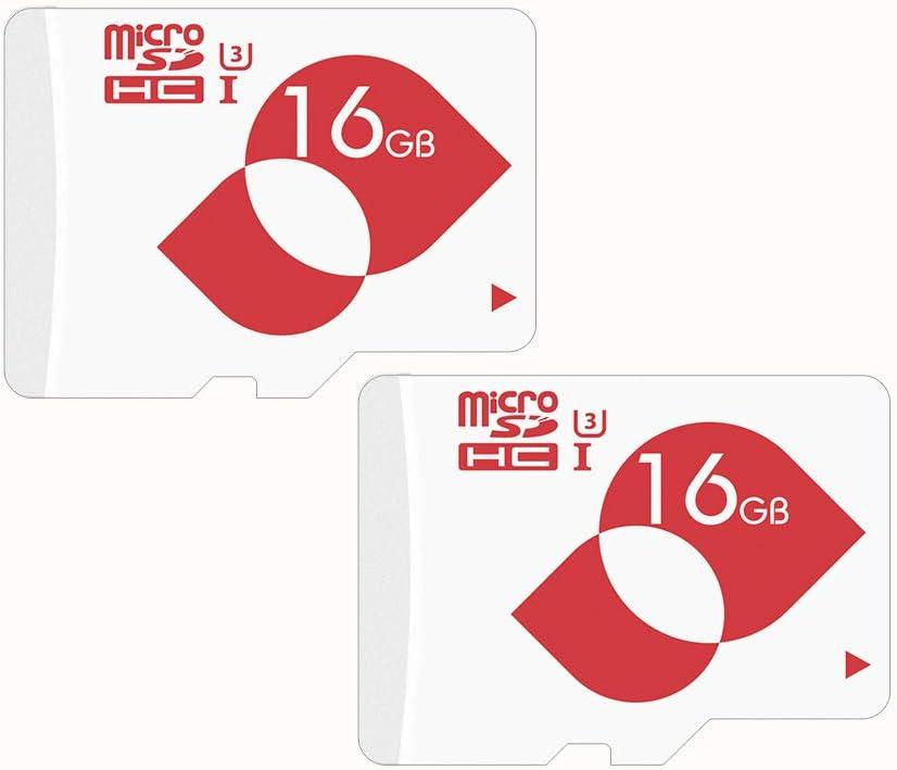 mengmi Micro SD Card 16GB Class 10 U3 TF Card microSDHC Memory Card with SD Adapter for DJI Drone,Nikon,Samsung,Camera,Dash Cam,Action Cam,Phone - 2 Pack(U3 16GB)