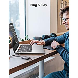 UGREEN USB C Lector de Tarjetas SD/MicroSD, Adaptador Tarjetas SD USB Tipo C [Compatible con Thunderbolt 3] para MacBook Pro, MacBook, MacBook Air/iPad Pro 2018/2020, Samsung Galaxy S10/ S9/ S8